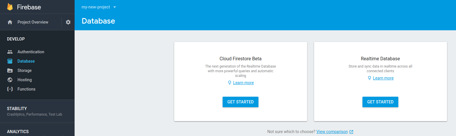 Get Started with Firebase Database